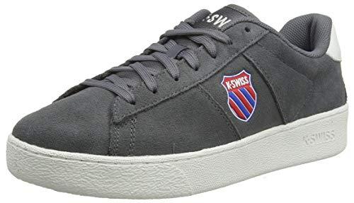 K-Swiss mens Court Casal Sde Sneaker, Smoked Pearl/Snow White, 9.5 US
