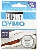 Dymo S0720820 D1-Etiketten (Selbstklebend, für den Drucker LabelManager, 19 mm x 7 m Rolle) schwarz auf transparent