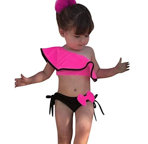 Jimmackey Costumi Bagno Bambina Ruffles Bikini Set Costume da Bagno Due Pezzi Neonata Swimsuit Una...