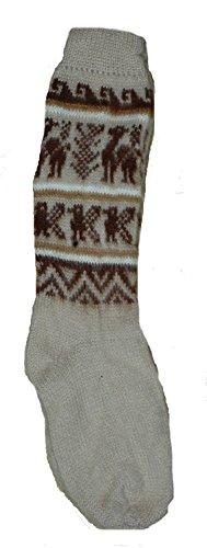 Terrapin Trading Ltd Fair Trade Unisex bolivianischen weiche Alpaka Woll Wollsocken SIZE 4-9 für Mann oder eine Frau
