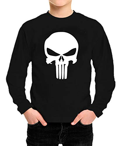 Camiseta Manga Larga de NIÑOS Punisher Castigador Comic 002 11-12 años