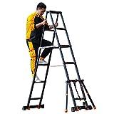 LYQQQQ Schwarz Teleskopverlängerung Ladder A...