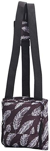 Travel Carry-on Organizer, Multi-Purpose Luggage Straps with Adjustable Size, Easy Bag Bungee for Tote Duffel Bag, Suitcase, Small Secure Travel Accessories (Coffee, S: 17.7'Lx7.8'W)