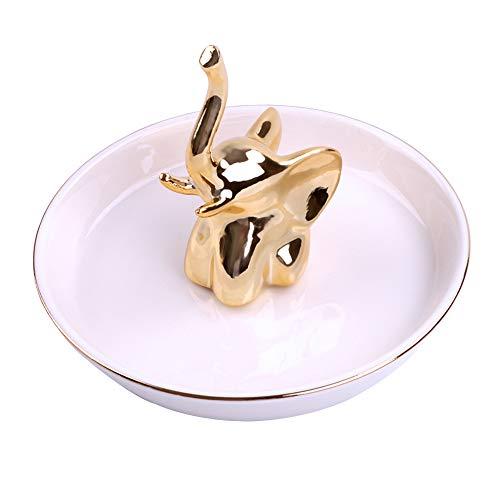 Ring Holder Ring Dish Jewelry Holder,Ceramic Jewelry Organizer Necklace Bracelet Earrings Ring Storage Dish Trinket Tray for Women Girls Wedding Holiday Christmas Birthday Gifts