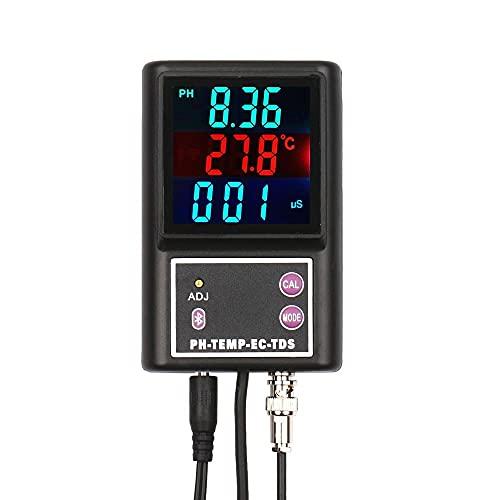 YWJT Probador de medidor de Calidad de Agua Digital EC TDS PH de Alta precisión BT Monitor de Temperatura multiparámetro inalámbrico para Agua