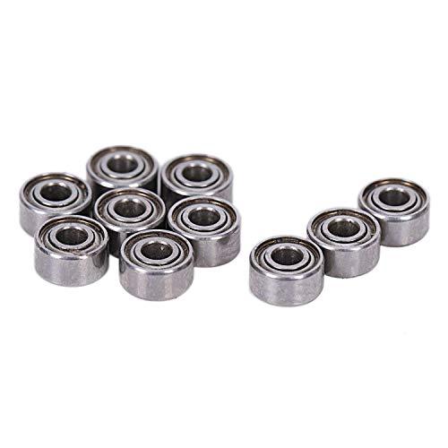 Bestlymood 10 StüCke Miniatur Versiegelt Metall Geschirmt Metrische Radial Kugel Lager Modell: MR52-ZZ 2x5x2.5Mm