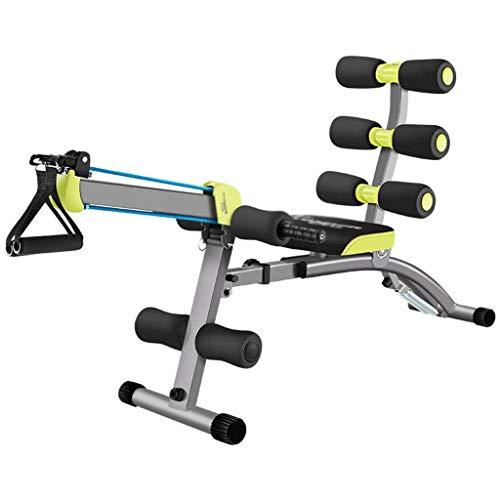 Faltbare Bauchmuskelmaschine, Bauchmuskel-Trainingsgeräte, geeignet für das Fitnessstudio zu Hause, höhenverstellbarer Bauchmuskeltrainer (Color : Black, Size : 110 * 30 * 52cm)