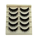 Acamifashion Colored False Eye Lashes Thick Long False Lashes Extension for Stage - Black