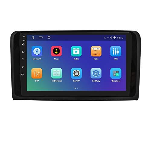 hizpo 9 Pulgadas Android 10 Autoradio Compatible para Benz ML & GL W164 2005-2012 GPS Navi Control del Volante Bluetooth Manos Libres WiFi 4GLTE DSP Dab Entrada de Vista Trasera USB