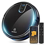 MOOSOO Robot Vacuum, Wi-Fi Connectivity, Easily Connects with Alexa or Google Assistant, Voice Control, Super...
