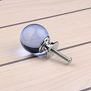 Hot sale Red Crystal Glass Ball Cupboard Door Drawer Knobs Diamond Shape Cabinet Drawer Kitchen Pull Handle Cabinet 30mm 10pcs - (Color: sea blue)