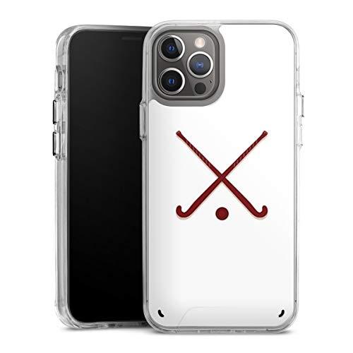DeinDesign Handyhülle kompatibel mit Apple iPhone 12 Pro Max Bumper Case Schutzhülle Hockey Hobby Sport