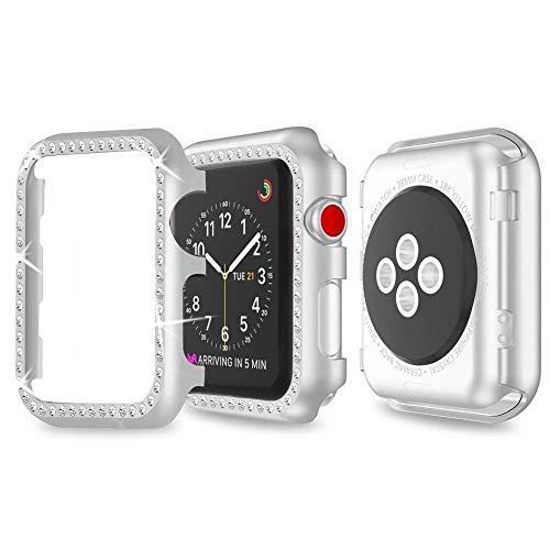 Für Apple Watch 38mm Bildschirmschutz Series 3 Hülle,iWatch Series 2 Hülle 38mm Schutzhülle Bildschirmschutz Apple Watch Hülle Aluminium Bumper Cover iWatch Series 1 Schutz Hülle für Apple Watch Series 3/2