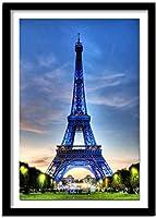 パリの番号エッフェル塔による大人のためのDIY5Dダイヤモンド絵画キットフルドリルクロスステッチクリスタルラインストーン絵画写真芸術壁の装飾絵画ドットキット40X50CM11CT