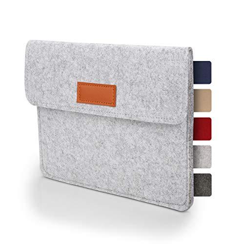 Tablet Tasche Hülle 8 - 9 Zoll aus Filz I für Geräte bis zu 21,5 x 16,5cm I Universal für iPad, Samsung, Huawei I iPad Sleeve und Tablet Schutzhülle, Hellgrau