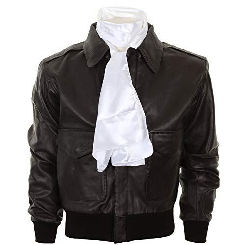 Epic Outdoor Schal für Piloten, Seidenmischung, Weiß