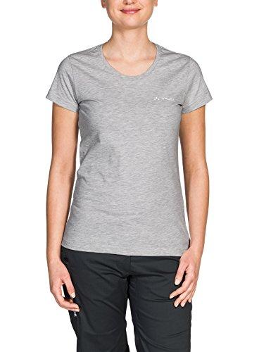 VAUDE Brand Shirt Femme, Grey Melange, FR : XS (Taille Fabricant : 34)