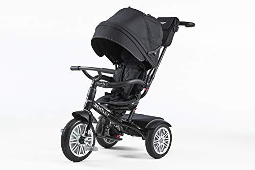 Bentley - Triciclo Evolutivo Licencia Triciclo con Asiento Giratorio y Capota, Incluye Bolso - Triciclo para bebés a Partir de 12 Meses (Onyx Black)