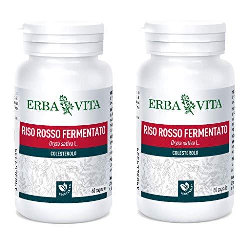 Erba Vita Integratore Alimentare di Riso Rosso Fermentato - 60 Capsule (2 Confezioni da 60 Capsule)