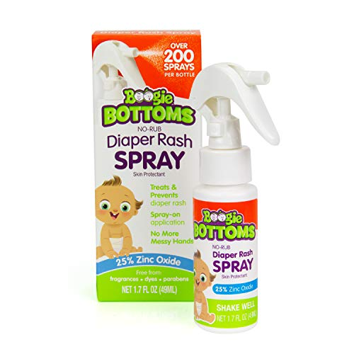 diaper rash creams Diaper Rash Cream Spray by Boogie Bottoms, Travel Friendly No-Rub Touch Free Application for Sensitive Skin, from The Maker of Boogie Wipes, Over 200 Sprays per Bottle, 1.7 oz