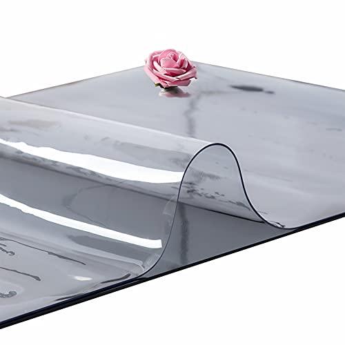 Mantel Protector PVC Rectangular Impermeable y Transparente,Antideslizante Resistente al Desgaste,Adecuado para mesas de Comedor y escritorios. (Grosor:2mm,Talla:90x145cm/35.4x57.1in)