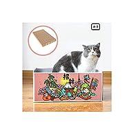 猫ハウス猫小屋 段ボール猫スクラッチボド研削爪猫の爪ねこペット用品猫のおもちゃ ネコファー キャットダンボールハウス 猫用爪とぎ ペットハウス 通気 爪とぎ兼ベッド 猫箱 vtk02 (A-2)