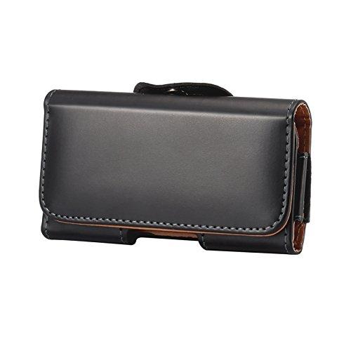 Bolso Cinturon Hombre Pequeña para Móvil, Riñonera Bolsa Compacta de Cintura, 5.5' Horizontal Funda con Clip Cinturon Hombre Mini Billetera Teléfono Móvil Caso Holster para Deportes Aire Libre Viaje