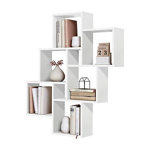 FMD Furniture - Mensola da parete in truciolato, 81,2 x 94,3 x 15,7 cm
