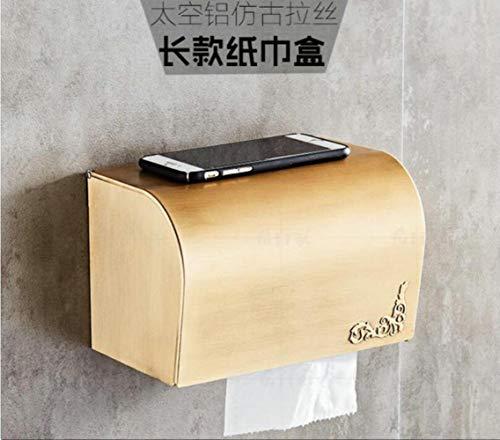 LCZMQRCLMZRQ Vintage aluminium badkamer hardware set badhanddoek plank toiletborstelhanddoek bar badkamer set, grote wc-papier doos