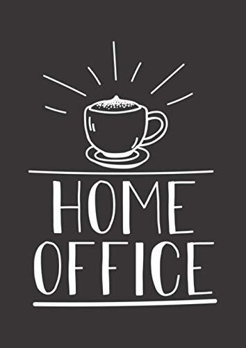 Notizbuch A4 dotted, gepunktet, punktiert mit Softcover Design: Kaffee im Home Office Homeoffice Geschenk für Kaffeejunkies: 120 dotted (Punktgitter) DIN A4 Seiten