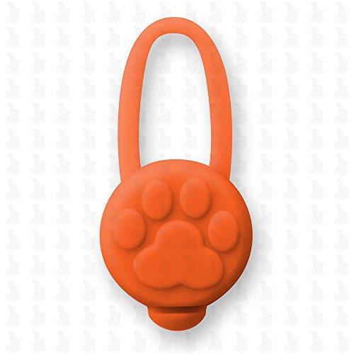 Hunde Leuchtanhänger Leuchthalsband Led Hundehalsband LH10 Blinkie von Leuchthund® Led Anhänger Silikon (orange)
