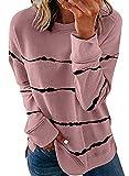 Biucly Womens Fashion Crewneck Tie Dye Sweatshirt...