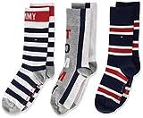 Tommy Hilfiger Jungen TH KIDS 3P GIFTBOX Socken, Mehrfarbig (Tommy Original 085), 27-30 (Herstellergröße: 27/30) (3er Pack)