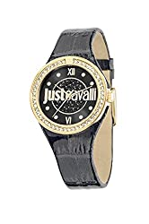Black Dial with Yellow Gold Case and Black Strap Watch R7251201501