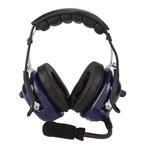 Kafuty General Aviation Headset, Doppelstecker Piloten Kopfhörer, 3,5mm Rausch Unterdrückung Headset für Piloten und Adopt Windproof Foam, Mono Audio Lautsprecher, GA Doppelstecker usw.