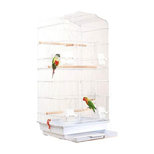 ZYLBDNB Voliera per pappagalli Gabbia for Uccelli in Ferro battuto in Metallo Pieghevole Piccola Villa con Uccello Pappagallo Medio e Grande Che Aumenta l'allevamento di Uccelli voliera per Uccelli