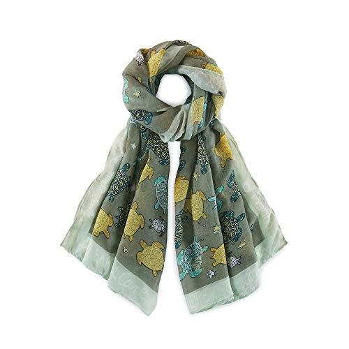 CODELLO Damen Trend-Schal Grün 1