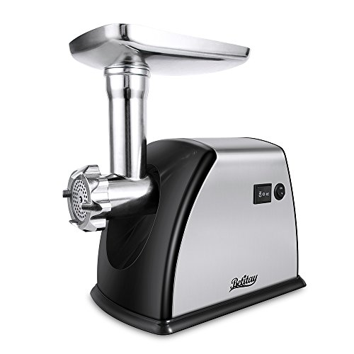 Betitay Electric Meat Grinder, Stainless Steel Meat Mincer Sausage Stuffer, ?1800 Watts Max?Heavy Duty Food Processing Machine with 3 Grinding Plates,Sausage Making Kit,Blade & Kubbe Attachment