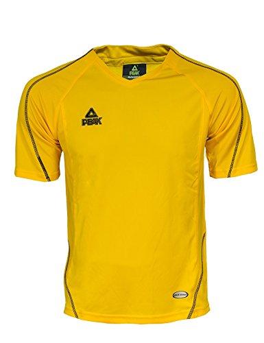Peak Sport Europe Shooting Riscaldamento e Maglietta da Corsa, Unisex, Shooting Aufwärm und Laufshirt, Energy Yellow, XS