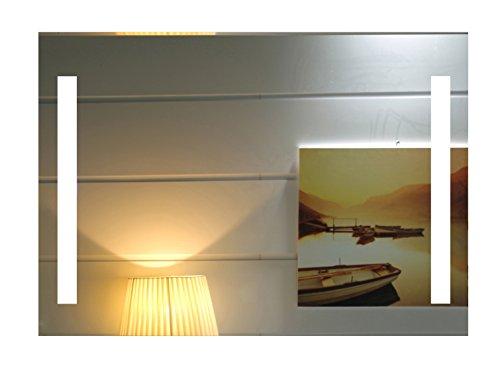 Dr. Fleischmann LED-Beleuchtung Badspiegel Badezimmerspiegel GS055N Lichtspiegel Wandspiegel Tageslichtweiß IP44 (80 x 60 cm)