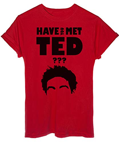 iMage T-Shirt Have You Met Ted Gioco How I Met Your Mother-Serie TV - Uomo-L-Rossa
