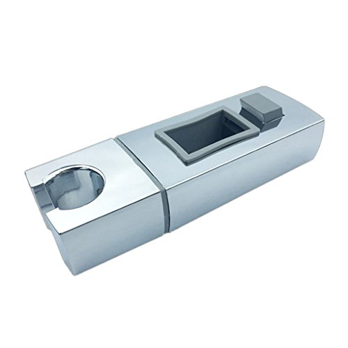 perfk Soporte de Ducha Ajustable Soporte de Manguera Baño Tipo de Pared Del Inodoro Material ABS Cromado