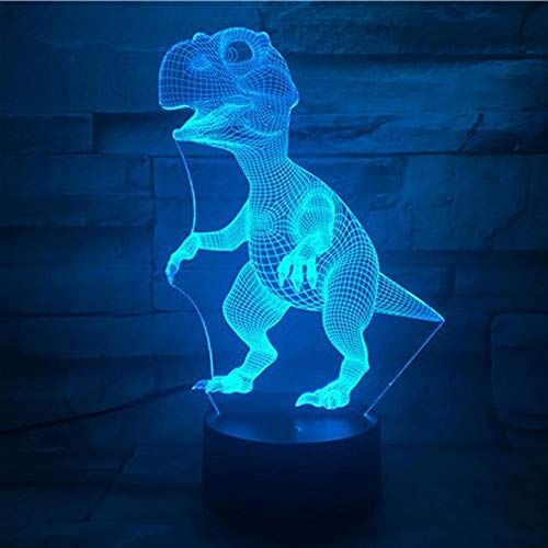 Yujzpl 3D Illusion Lampe Led Nachtlicht Mit 7 Farben Flashing & Touch-Schalter,Für Schlafzimmer Kinder Weihnachts Valentine Geburtstag Geschenk[Energieklasse A++]Dinosaurier Mit Gebrochenem Bein