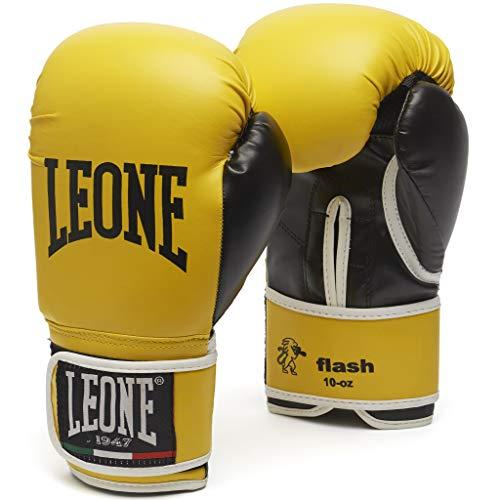 León 1947Flash, Guantes de Boxeo Unisex-Adulto, Unisex Adulto, Flash, Amarillo