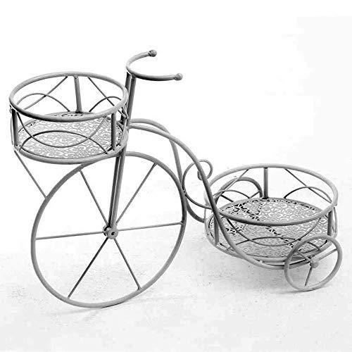 linoows Pflanzrad, Pflanzständer, Blumenständer Fahrrad mit Zwei Körbe. Blumenhocker