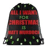 Matt Murdo - Sudadera con capucha, diseño de Navidad, color negro