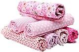 KING DO WAY Tessuti Stampati, Set di Stoffa Patchwork per Fatti a Mano, Materiali Tessuti in Cotone per Hobby Creativi (Rosa)