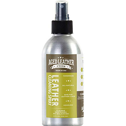 Aged Leather Pros pH Balanced Leather Cleaner (8 oz) for Suede, Nubuck, and Any Leather | Protects Purses, Shoes, Jackets, Couches, Auto Interior, Saddles and Much More