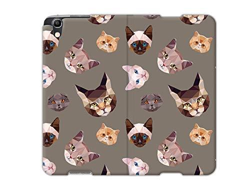 etuo Handyhülle für Alcatel Idol 4 - Hülle, Handy Flip Case - Geometrische Katzen
