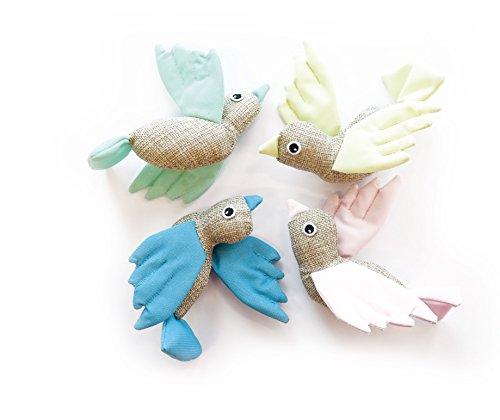 MPETS Oiseau Tissu Fluorescent pour Chat - Lot de 3